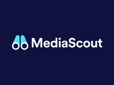 MediaScout - Logo Design Concept (for sale) for sale unused buy m shape m letter logo brand system branding agency smart logo identity design brand design brand identity clean marketing scout binocular media tech digital symbol logotype identity logo designer logo design branding logo