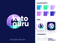 KetoGuru - Logo Design Exploration branding agency color palette smart design gradient logo corporate identity design brand identity app icon logotype identity logo designer logo design branding logo