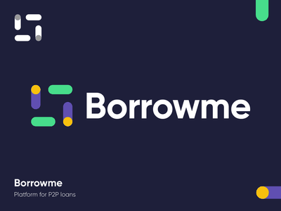 Borrowme - Logo Design Exploration borrow loan percentage finance tech fintech coin transfer media tech digital smart logo branding agency brand identity identity design platform credit branding design identity branding corporate symbol logotype identity logo designer logo design branding logo