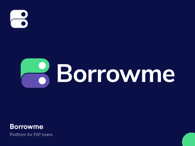 Borrowme - Logo Design Exploration fintech credit platform finance tech money smart logo borrow loan percentage identity design branding design brand identity brand design connection b letter logo corporate symbol logotype identity logo designer logo design branding logo