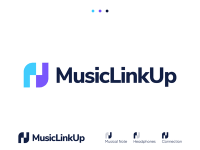 MusicLinkUp - Logo Design Concept linkedin music social network networking facebook link app branding identity identity design smart logo branding agency artists producers singers music app smart logos corporate symbol logotype identity logo designer logo design branding logo