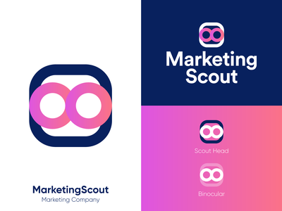 MarketingScout - Approved Logo Design research guide help clean logo scout head binocular brand design media tech digital smart logo branding design brand identity marketing company logos tech corporate symbol logotype identity logo designer logo design branding logo