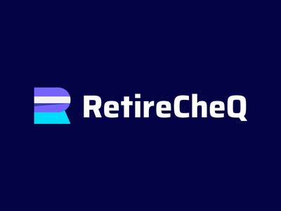 RetireCheQ - Logo Design Exploration cheque cheq logo retire branding agency smart logo identity design branding design brand identity fintech branding ai solution software income plan management platform fintech solution retirement media tech digital icon corporate symbol logotype identity logo designer logo design branding logo