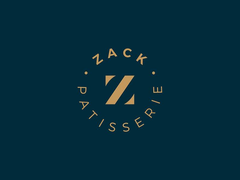 Zack Logo Design logo design logo designer patisserie circle letter emblem nice clean design logo