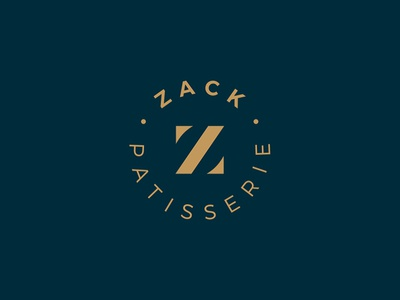 Zack Logo Design vector monogram icon letters mark corporate branding logotype identity symbol logo design logo designer patisserie circle letter emblem nice clean design logo