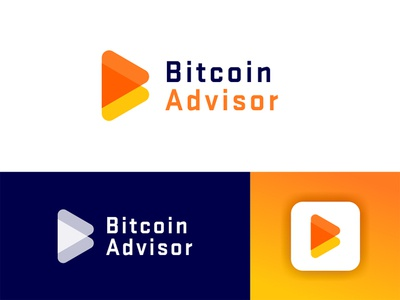 Bitcoin Advisor - Approved Logo Design app letter clean logo corporate media tech digital logotype design logo design logo designer trading identity icon finance finacial cryptocurrency crypto branding bitcoin bank