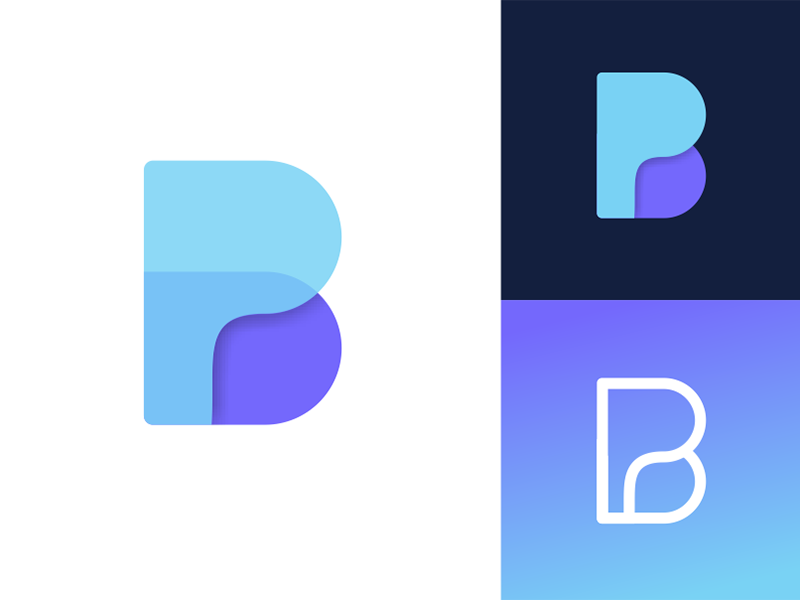 BP Logo Design | Icon digital media tech letter letters monogram gradient app for sale unused buy corporate clean branding logo design logo designer tech symbol mark logotype logo identity icon fintech finance bp