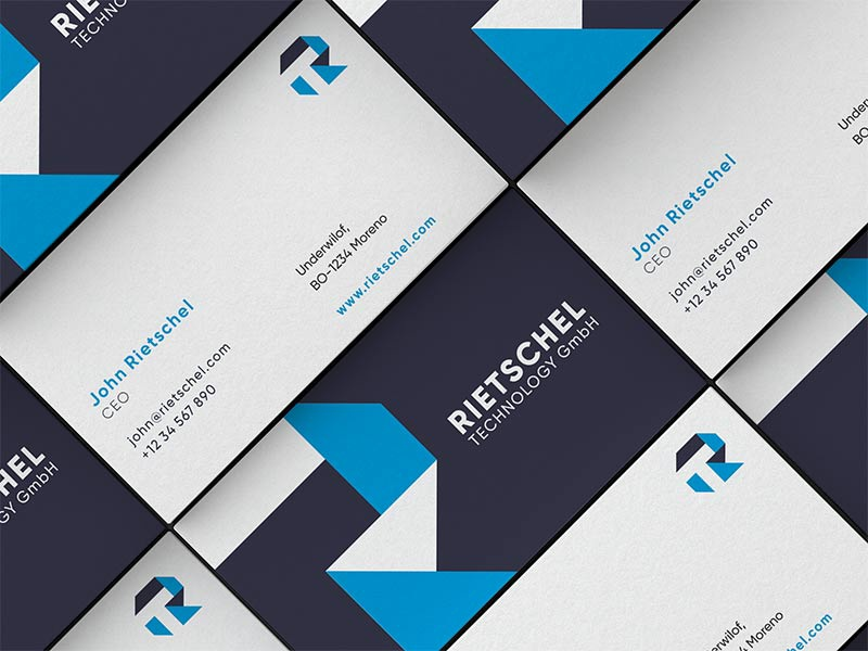 Riets logo design and business card by eugene mt dribbble riets businesscard reheart Images