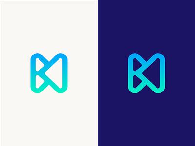 HB Logo Design Exploration corporate letters digital media tech symbol logotype identity logo designer logo design designer gradient layers b h letter flat branding vector icon design logo