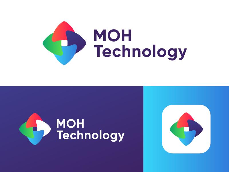 Logo Design Exploration for MOH Technology logo design logo designer things connect vector symbol layer design branding icon logo