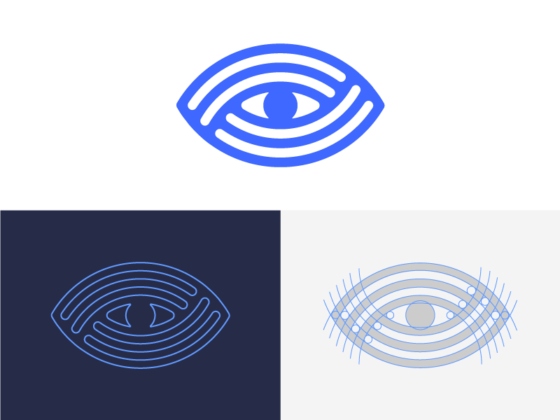 Eye Logo Design Exploration nice monogram corporate app digital media tech tech identity logotype logo design logo designer designer clean human medical vector symbol design icon branding logo