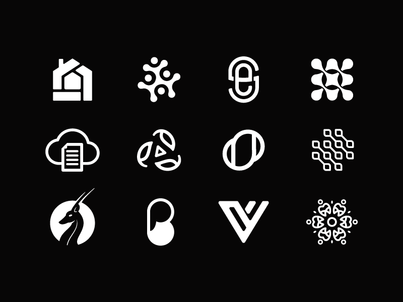 Black Logofolio logo design logo designer logofolio black logo branding icon design symbol vector web clean