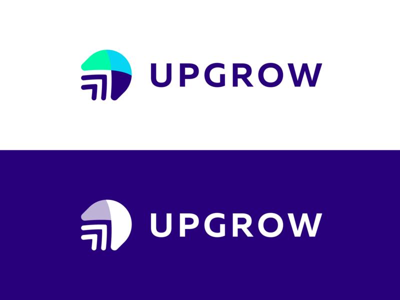 UpGrow Logo Design Concept app symbol arrow clean tech logotype layers letter identity design logo designer logo design branding icon logo