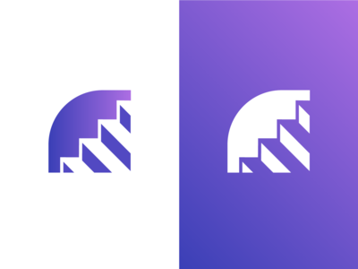Stairs Logo Design Concept