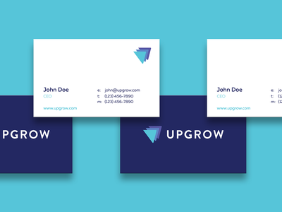 UpGrow Business Card corporate style clean corporate business card corporate branding logotype tech cards design cards card business card design business cards nice identity symbol design logo designer logo design branding busines card logo