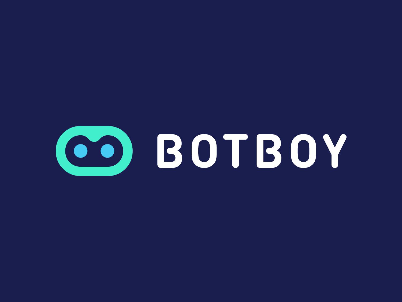 BotBoy Approved Logo Design letters nice letter negative space b letter boy robot corporate app identity tech logotype symbol design logo designer logo design branding clean icon logo