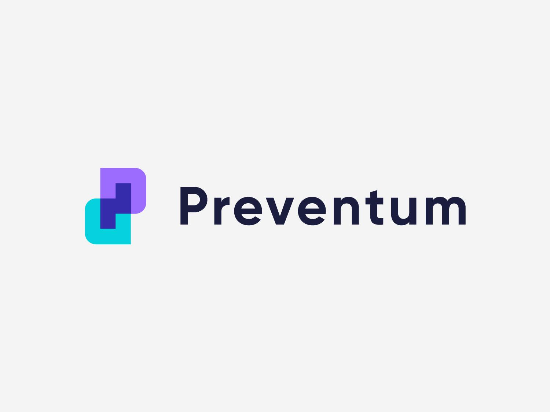 Preventum - Approved Logo Design monogram mark letters nice p letter app corporate layers tech logotype identity letter symbol design logo designer logo design branding clean icon logo