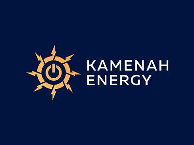 Kamenah Energy - Approved Logo Design vector nice corporate symbol gradient design tech renewable energy solar panels solar energy solar panel sun logo logotype identity logo designer logo design branding clean icon logo