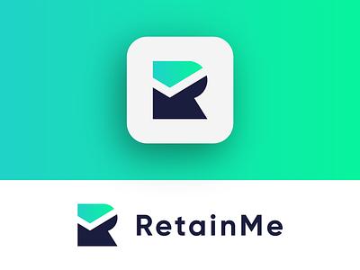 RetainMe Logo Exploration (for sale) for sale unused buy typography mark letters r letter r logo corporate gradient tech logotype letter identity design symbol logo designer logo design clean branding icon logo