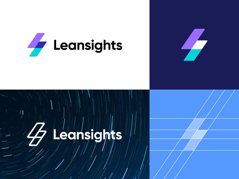 Leansights - Logo Design Variations (for sale) for sale unused buy logo branding clean logo design logo designer symbol design nice identity logotype letter tech gradient corporate letters l letter logo s letter logo marketing logo agency digital lean logo sights