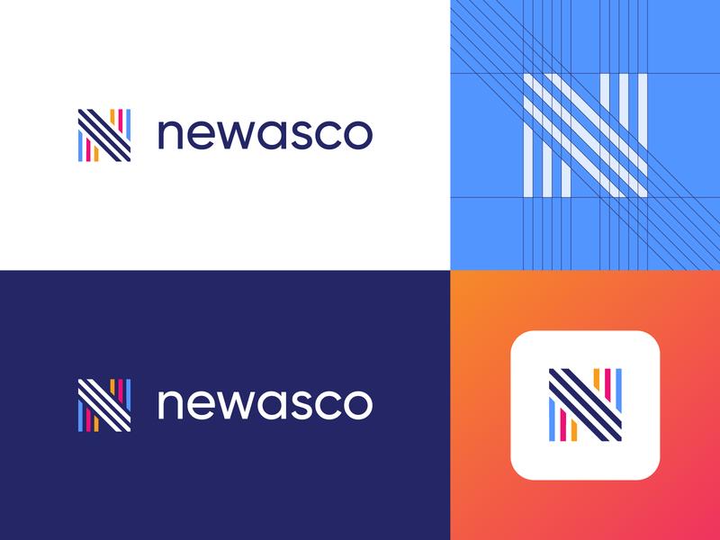 Newasco - Logo Design Exploration digital media tech monogram app letters mark letter corporate tech gradient logotype nice identity design symbol logo designer logo design branding clean icon logo