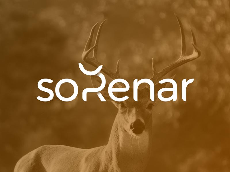 soRenar - Logo Design Exploration wordmark logo mountain ecological deer reindeer animal nature eco nice typography letters letter gradient clean symbol wordmark corporate design logotype identity logo designer logo design icon branding logo