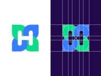 H Letter - Logo Grid