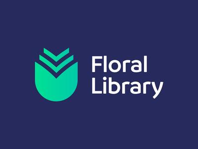 Floral Library - Logo Design Concept