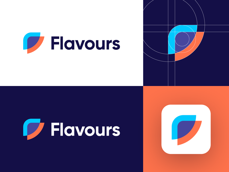 Flavours - Logo Design Concept (for sale) for sale unused buy media code logo app logo abstract logo tech technology developer stack flavours layers f letter logo media tech digital letter corporate logotype symbol identity logo designer logo design branding logo