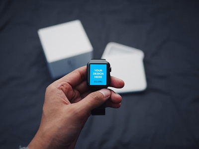 Apple Watch unboxing mockup template placeit online tool freebie smartmockups mockup