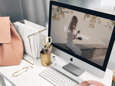 💁♀️ Feminine website pink imac webdesign placeit smartmockups template mockup