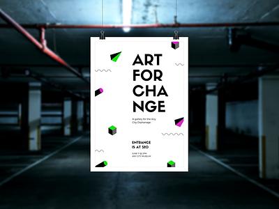 📍 Art Poster design mockup template smartmockups placeit print poster wall