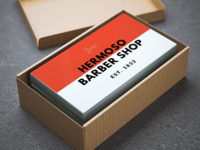 barber shop business cards by smartmockups dribbble barber shop business cards colourmoves Gallery