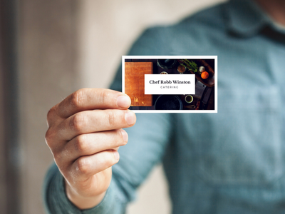 👨🍳 Chef business cards mockup template smartmockups placeit business card print
