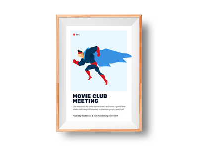 🎞 Movie Club Meeting Poster mockup template smartmockups placeit print poster wall