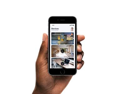 📲 Smart Security Camera App mockup template smartmockups placeit mobile ui iphone 8 interface