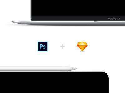 🚀 Mockup Freebies - New iPad Pro & New MacBook Air macbook air ipad pro air pro ipad sketch psd macbook template free freebie smartmockups mockup