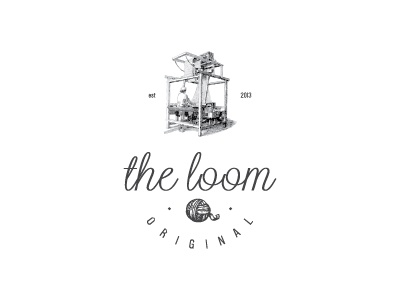 the loom logo branding textile black retro typo