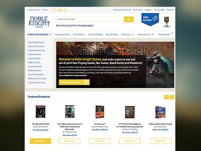 Noble Knight web design ui ecommerce