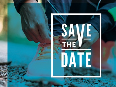 Corporate Save the Date print poster type