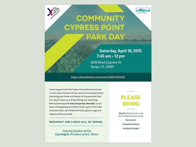 Cypress Point Park Day Flyer flyer print
