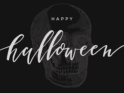 Happy Halloween calligraphy halloween lettering