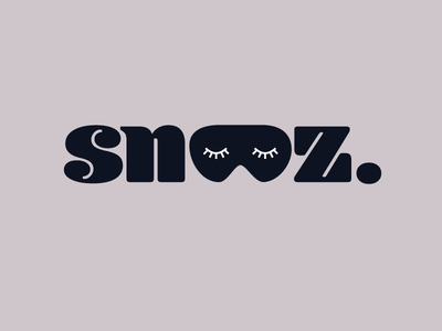 Snooz brand branding logo
