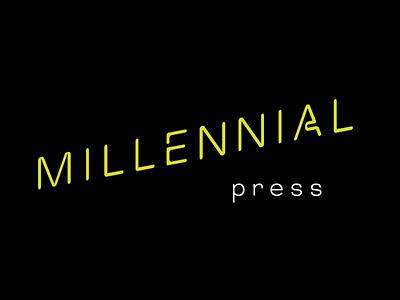 Millenial brand branding logo