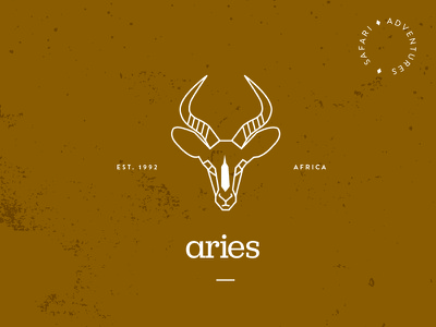 Aries Safari Adventures brand branding logo