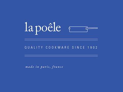 La Poêle Cookware logo brand branding logo