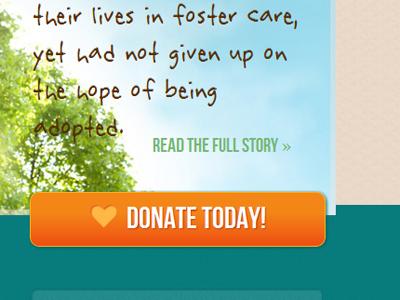 Non-profit UI button call to action ui web design