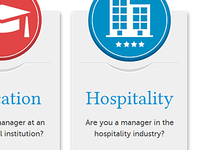 Hospitality ui call to action button