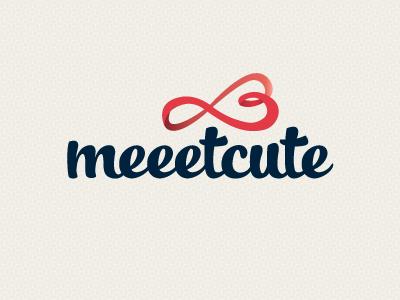 Meeetcute logo logo branding