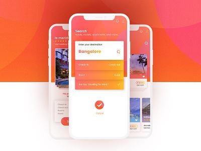 App UI Design   Hotel booking android latest design minimal mobile app best ui ux hotel booking ui kit ios iphonex app design